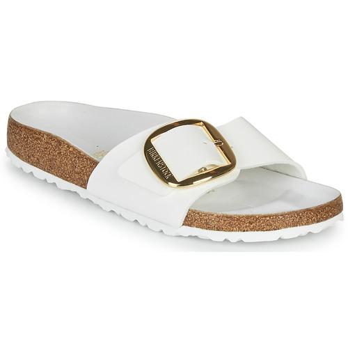 Topánky Ženy Šľapky Birkenstock MADRID BIG BUCKLE Biela / Lakovaná