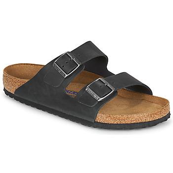Topánky Muži Šľapky Birkenstock ARIZONA SFB LEATHER Čierna