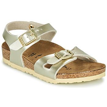 Topánky Dievčatá Sandále Birkenstock RIO Zlatá
