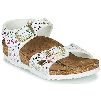 Topánky Dievčatá Sandále Birkenstock RIO Biela / Viacfarebná