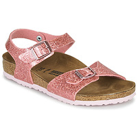 Topánky Dievčatá Sandále Birkenstock RIO PLAIN Cosmic / Sparkle / Old / Ružová