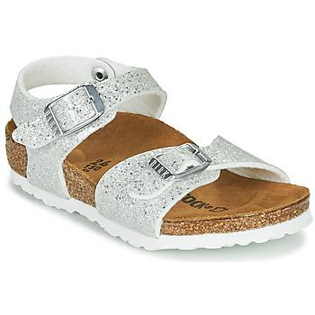 Topánky Dievčatá Sandále Birkenstock RIO PLAIN Biela