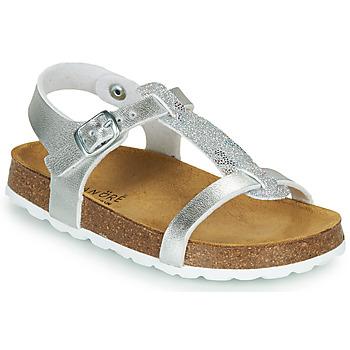 Topánky Dievčatá Sandále André SYLVIE Strieborná