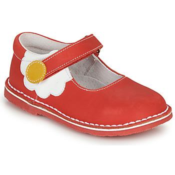Topánky Dievčatá Balerínky a babies André PAQUERETTE Červená