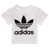 Oblečenie Deti Tričká s krátkym rukávom adidas Originals MAELYS Biela