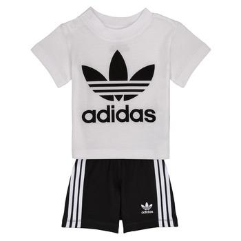 Oblečenie Chlapci Komplety a súpravy adidas Originals CAROLINE Biela / Čierna
