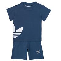 Oblečenie Chlapci Komplety a súpravy adidas Originals CYLIA Modrá