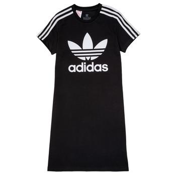 Oblečenie Dievčatá Krátke šaty adidas Originals SALOME Čierna