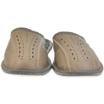 Topánky Muži Papuče John-C Pánske hnedé papuče FILIP hnedá