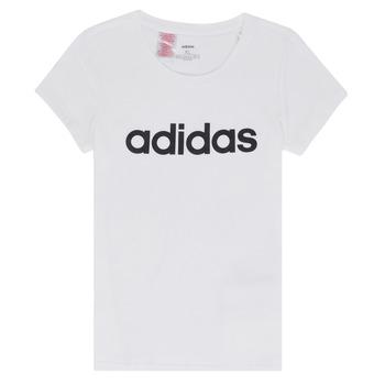 Oblečenie Dievčatá Tričká s krátkym rukávom adidas Performance NELIZO Biela