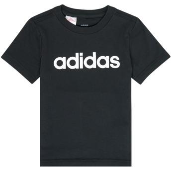 Oblečenie Chlapci Tričká s krátkym rukávom adidas Performance NATAZO Čierna