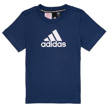 Oblečenie Chlapci Tričká s krátkym rukávom adidas Performance BRIAN Námornícka modrá