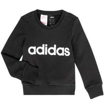 Oblečenie Dievčatá Mikiny adidas Performance MED Čierna
