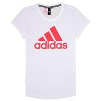 Oblečenie Dievčatá Tričká s krátkym rukávom adidas Performance ELIOTE Biela