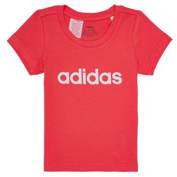 Oblečenie Dievčatá Tričká s krátkym rukávom adidas Performance MAKIT Ružová