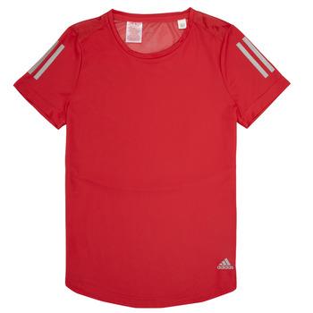 Oblečenie Dievčatá Tričká s krátkym rukávom adidas Performance MELINDA Červená