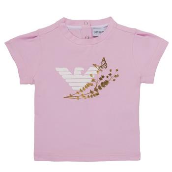 Oblečenie Dievčatá Tričká s krátkym rukávom Emporio Armani Adrian Ružová