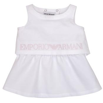 Oblečenie Dievčatá Krátke šaty Emporio Armani Alberic Biela