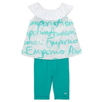 Oblečenie Dievčatá Komplety a súpravy Emporio Armani Alex Biela / Modrá