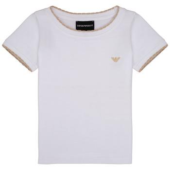 Oblečenie Dievčatá Tričká s krátkym rukávom Emporio Armani Allan Biela