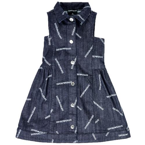 Oblečenie Dievčatá Krátke šaty Emporio Armani Andy Modrá