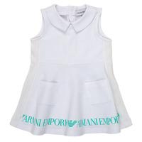 Oblečenie Dievčatá Krátke šaty Emporio Armani Apollinaire Biela