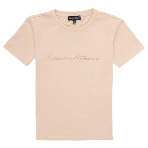 Oblečenie Dievčatá Tričká s krátkym rukávom Emporio Armani Armel Ružová
