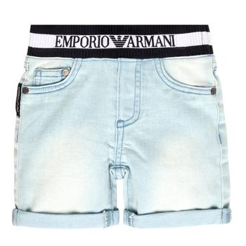 Oblečenie Chlapci Šortky a bermudy Emporio Armani Ariel Modrá