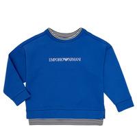 Oblečenie Chlapci Mikiny Emporio Armani Aurèle Modrá