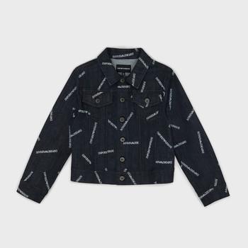 Oblečenie Chlapci Džínsové bundy Emporio Armani Angelo Modrá