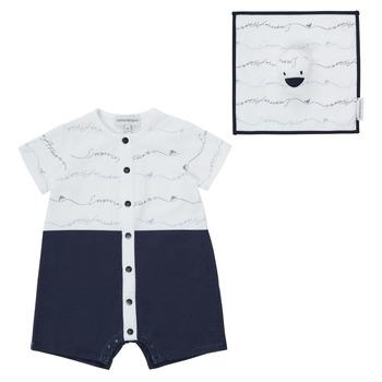 Oblečenie Chlapci Módne overaly Emporio Armani Edouard Námornícka modrá