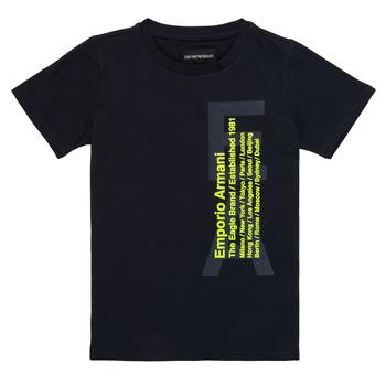 Oblečenie Chlapci Tričká s krátkym rukávom Emporio Armani Andoni Námornícka modrá
