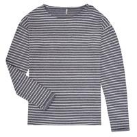 Oblečenie Dievčatá Tričká s dlhým rukávom Only KONNELLY Biela / Námornícka modrá