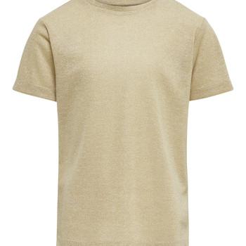 Oblečenie Dievčatá Tričká s krátkym rukávom Only KONSILVERY Zlatá