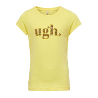 Oblečenie Dievčatá Tričká s krátkym rukávom Only KONJULLA Žltá