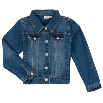 Oblečenie Chlapci Džínsové bundy Name it NITSTAR RIKA Modrá