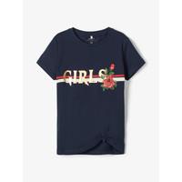 Oblečenie Dievčatá Tričká s krátkym rukávom Name it NKFBARBRA Námornícka modrá