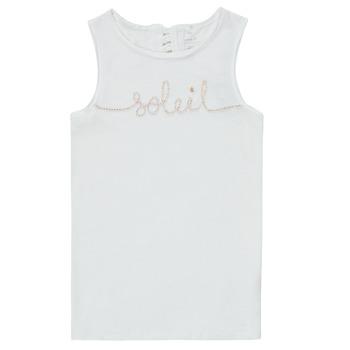 Oblečenie Dievčatá Tielka a tričká bez rukávov Name it NKFFAMILA Biela