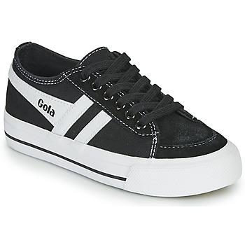 Topánky Deti Nízke tenisky Gola QUOTA II Čierna / Biela