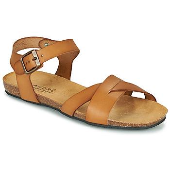 Topánky Ženy Sandále André BREHAT Ťavia hnedá