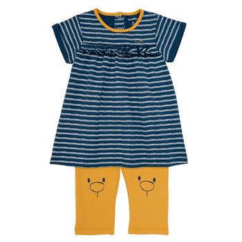 Oblečenie Dievčatá Krátke šaty Noukie's AYOUB Modrá / Žltá