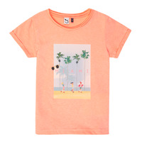 Oblečenie Dievčatá Tričká s krátkym rukávom 3 Pommes LEA Oranžová