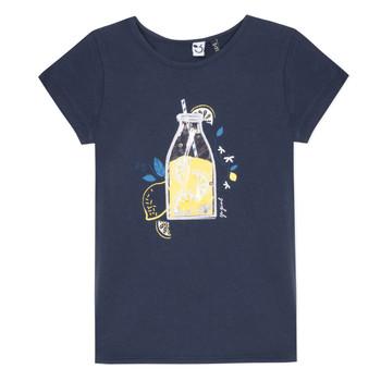 Oblečenie Dievčatá Tričká s krátkym rukávom 3 Pommes LOGAN Modrá