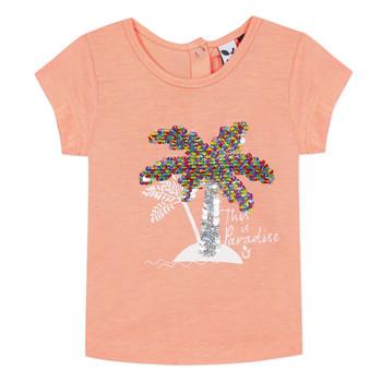 Oblečenie Dievčatá Tričká s krátkym rukávom 3 Pommes EMMA Oranžová