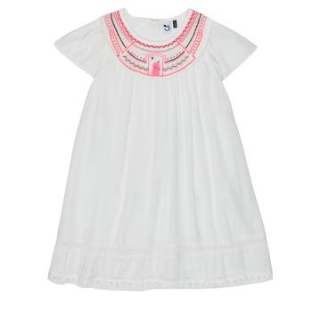 Oblečenie Dievčatá Krátke šaty 3 Pommes LAURA Biela