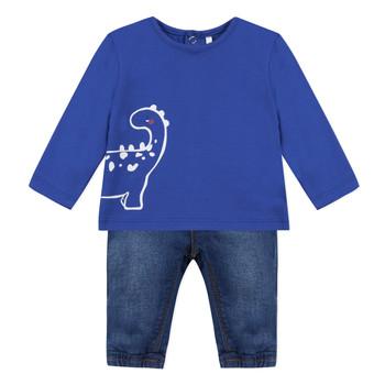 Oblečenie Chlapci Komplety a súpravy 3 Pommes GABRIEL Modrá