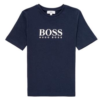 Oblečenie Chlapci Tričká s krátkym rukávom BOSS MARIA Modrá