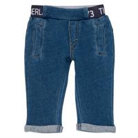 Oblečenie Chlapci Nohavice päťvreckové Timberland VALENTIN Modrá