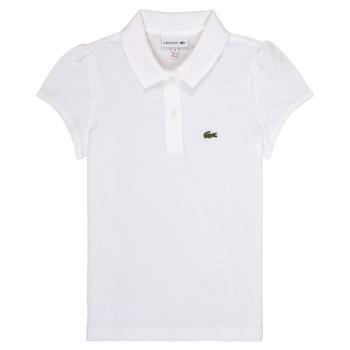 Oblečenie Dievčatá Polokošele s krátkym rukávom Lacoste CAYDEN Biela