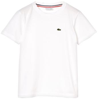 Oblečenie Chlapci Tričká s krátkym rukávom Lacoste NAE Biela